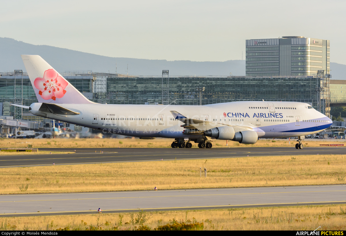 China Airlines B-18202 aircraft at Frankfurt