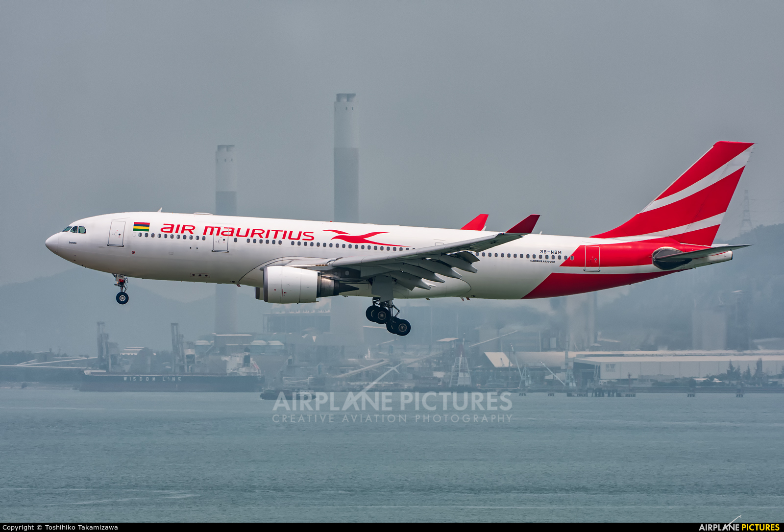 Air Mauritius 3B-NBM aircraft at HKG - Chek Lap Kok Intl