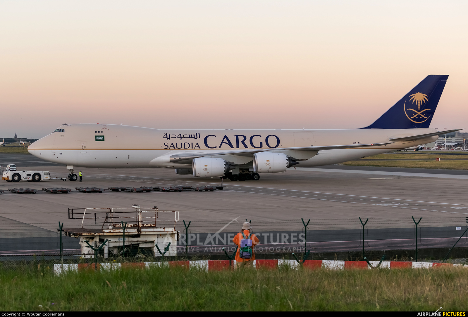 Saudi Arabian Cargo HZ-AI3 aircraft at Brussels - Zaventem