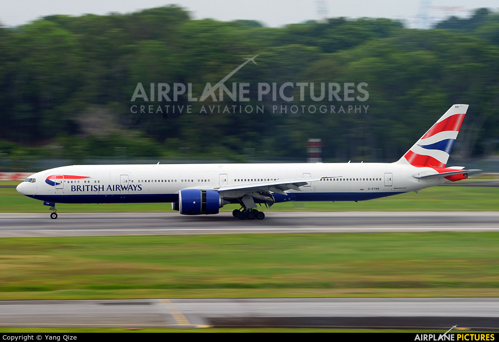 British Airways G-STBB aircraft at Singapore - Changi
