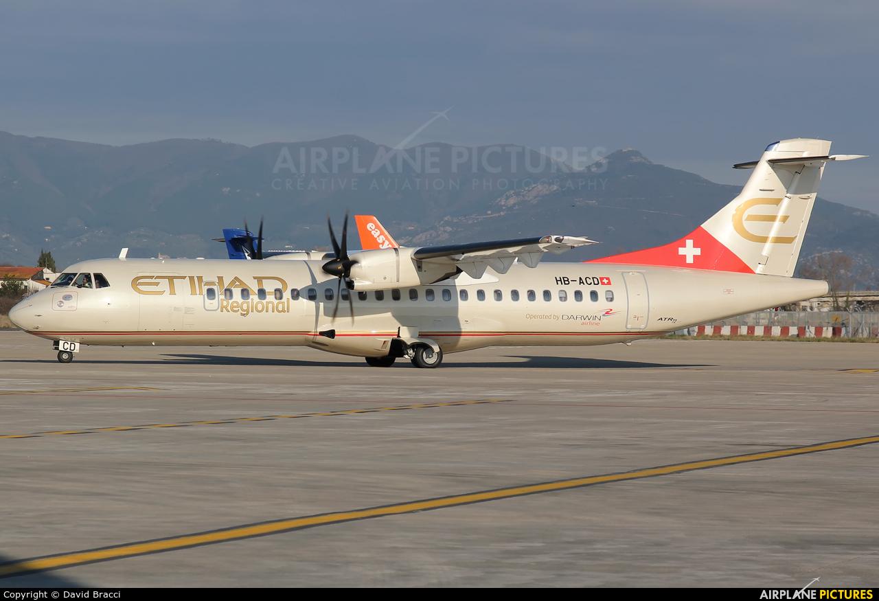 Etihad Regional - Darwin Airlines HB-ACD aircraft at Pisa - San Giusto