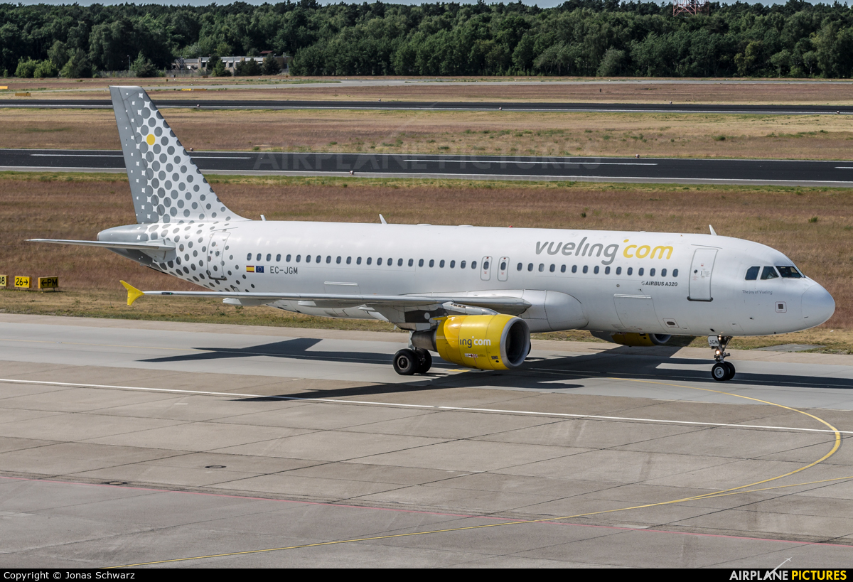 Vueling Airlines EC-JGM aircraft at Berlin - Tegel