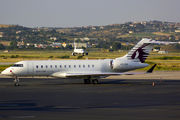 Rare Qatar Executive BD-700 in Thessaloniki title=