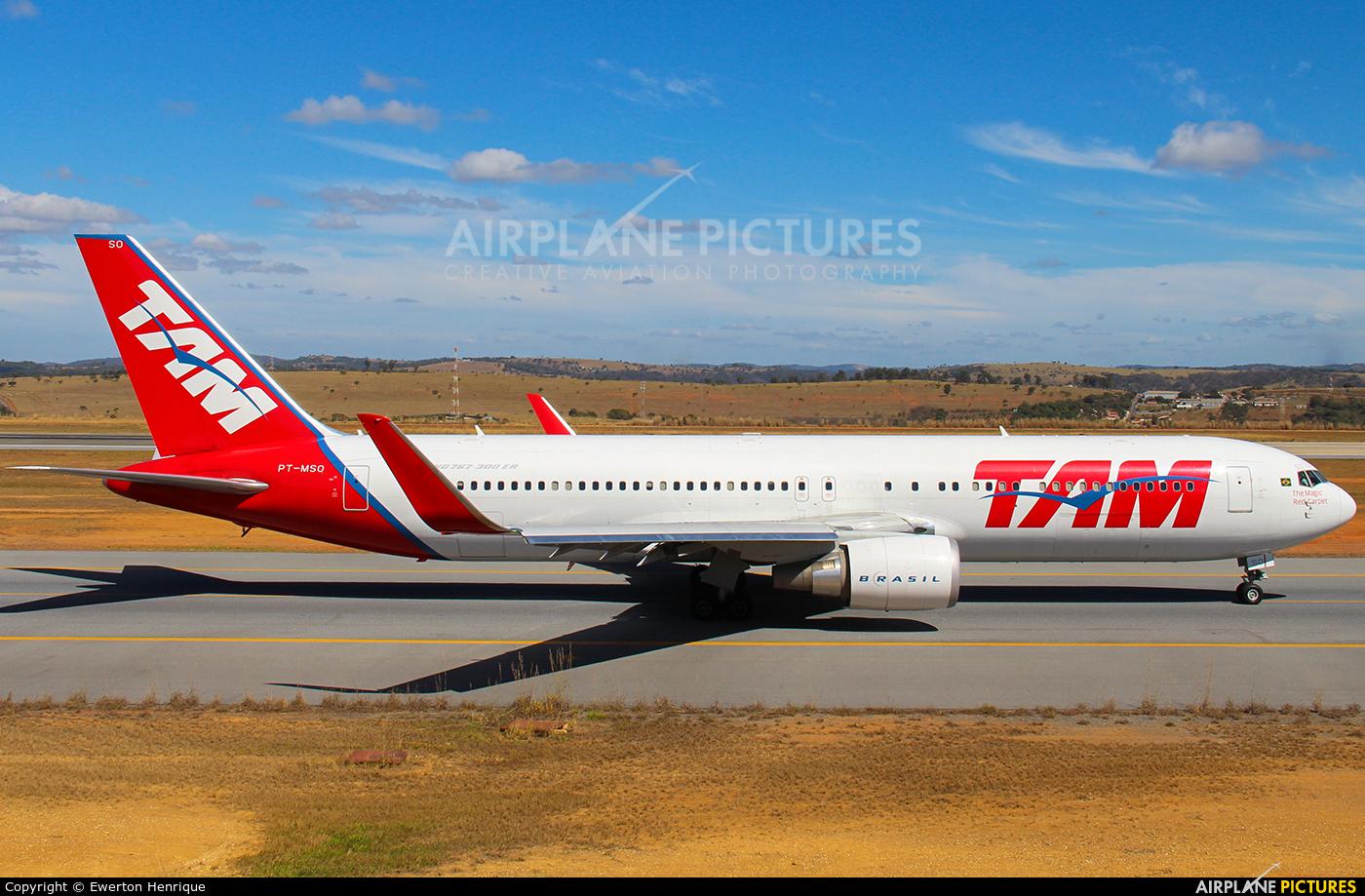 TAM PT-MSO aircraft at Belo Horizonte - Tancredo Neves