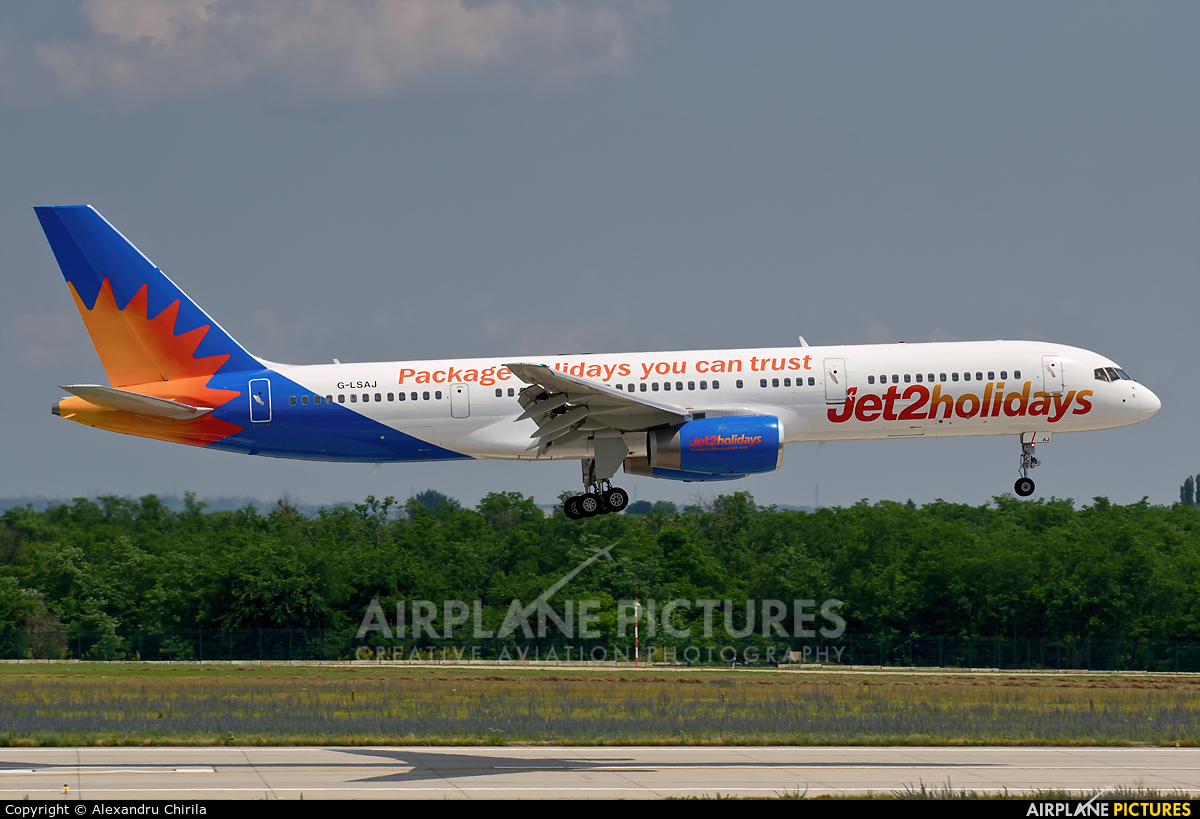 Jet2 G-LSAJ aircraft at Budapest Ferenc Liszt International Airport