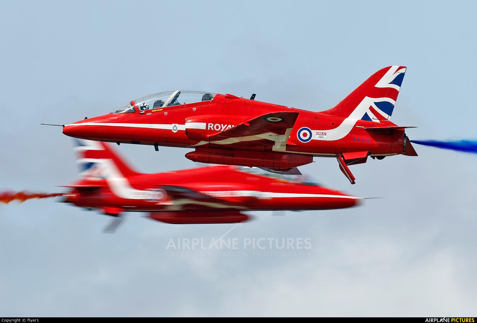 "Royal Air Force ""Red Arrows"" XX319 aircraft at Fairford"