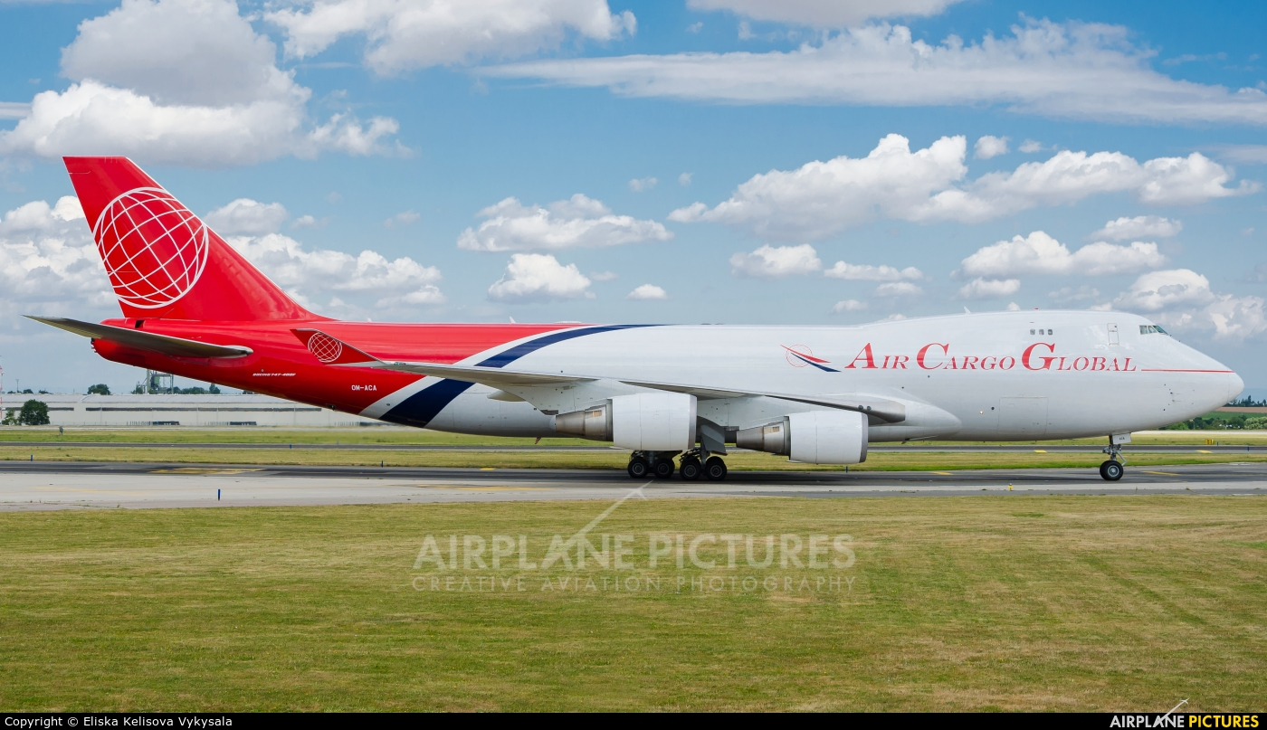 Air Cargo Global OM-ACA aircraft at Prague - Václav Havel