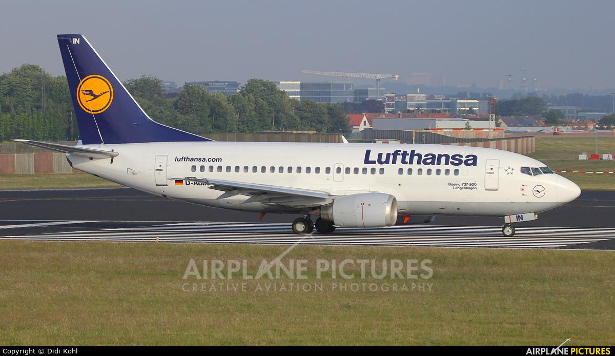 Lufthansa D-ABIN aircraft at Brussels - Zaventem