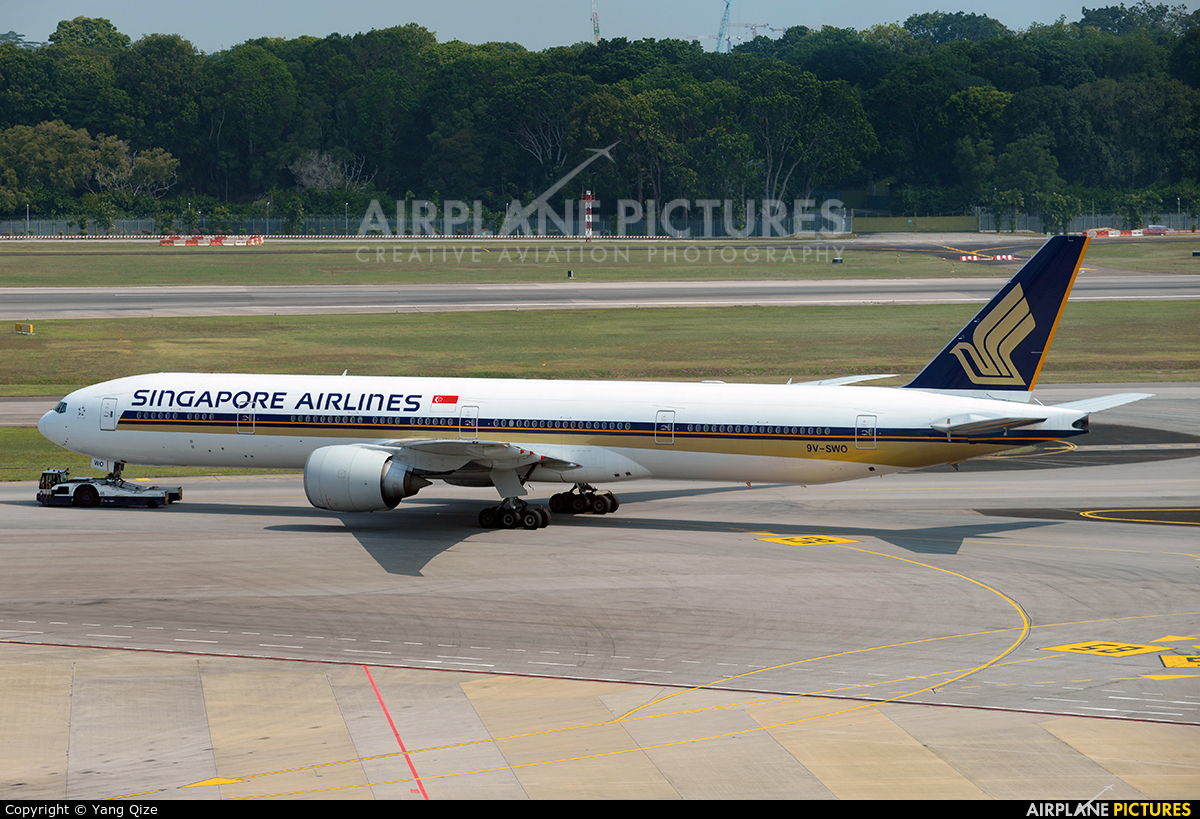 Singapore Airlines 9V-SWO aircraft at Singapore - Changi