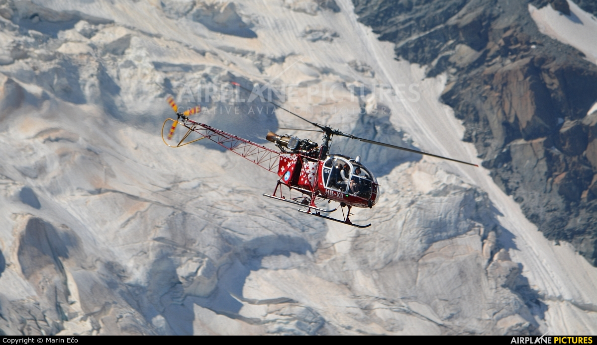 Air Zermatt HB-XII aircraft at Off Airport - Switzerland