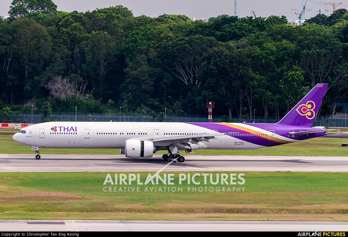 Thai Airways HS-TKW aircraft at Singapore - Changi