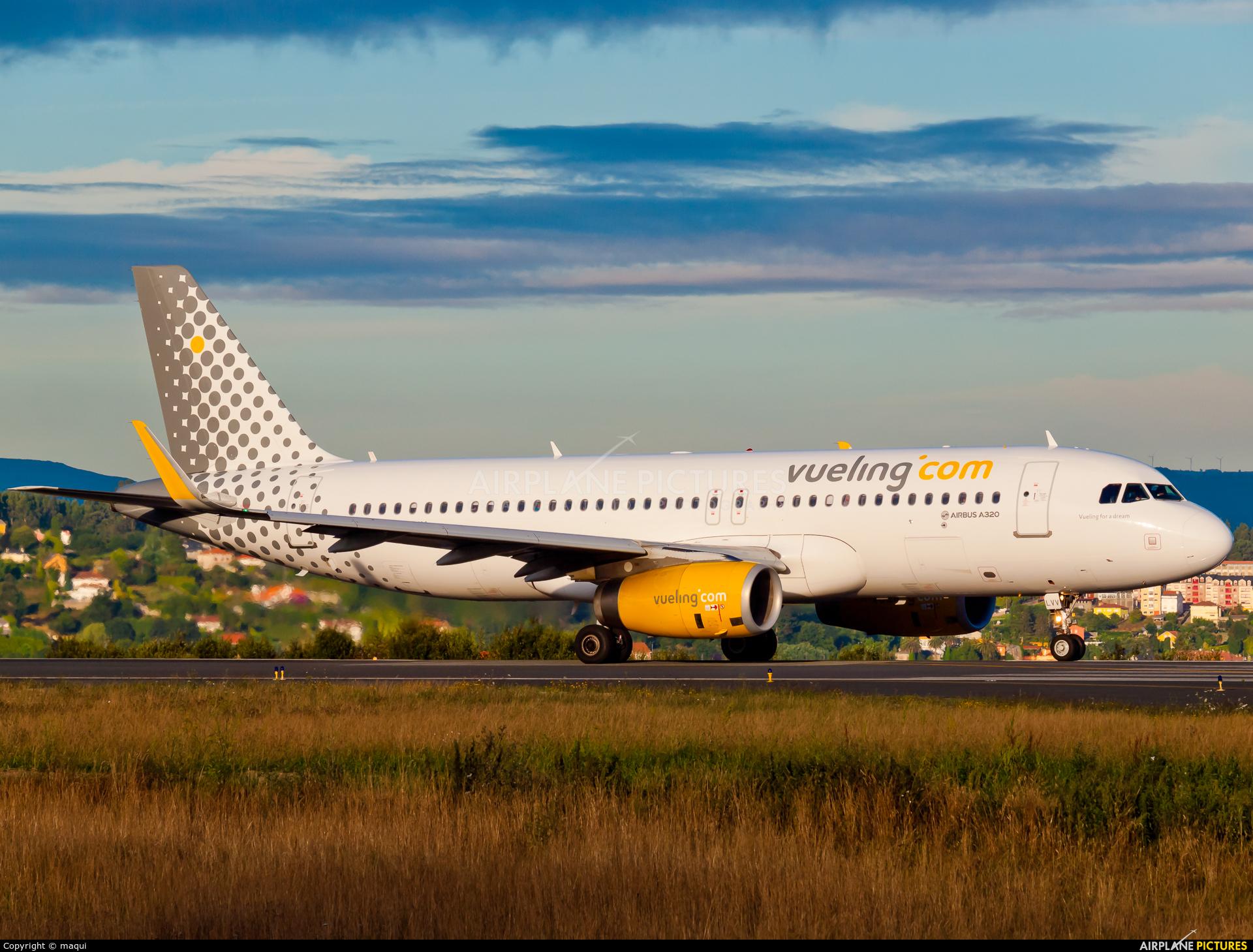 Vueling Airlines EC-LVV aircraft at La Coruña