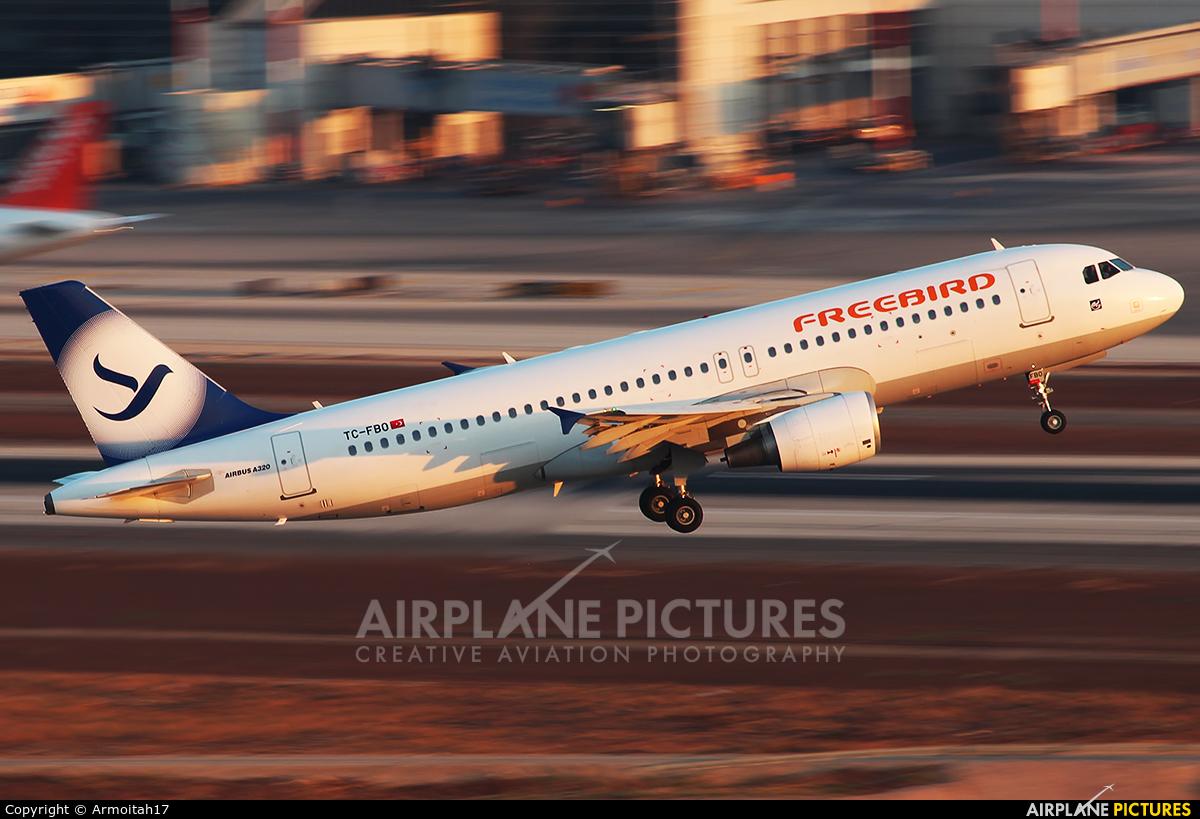 FreeBird Airlines TC-FBO aircraft at Tel Aviv - Ben Gurion