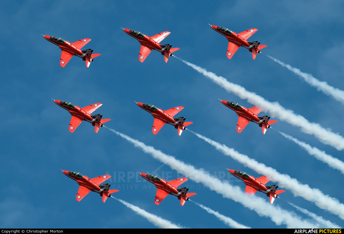 "Royal Air Force ""Red Arrows"" XX177 aircraft at Sunderland"