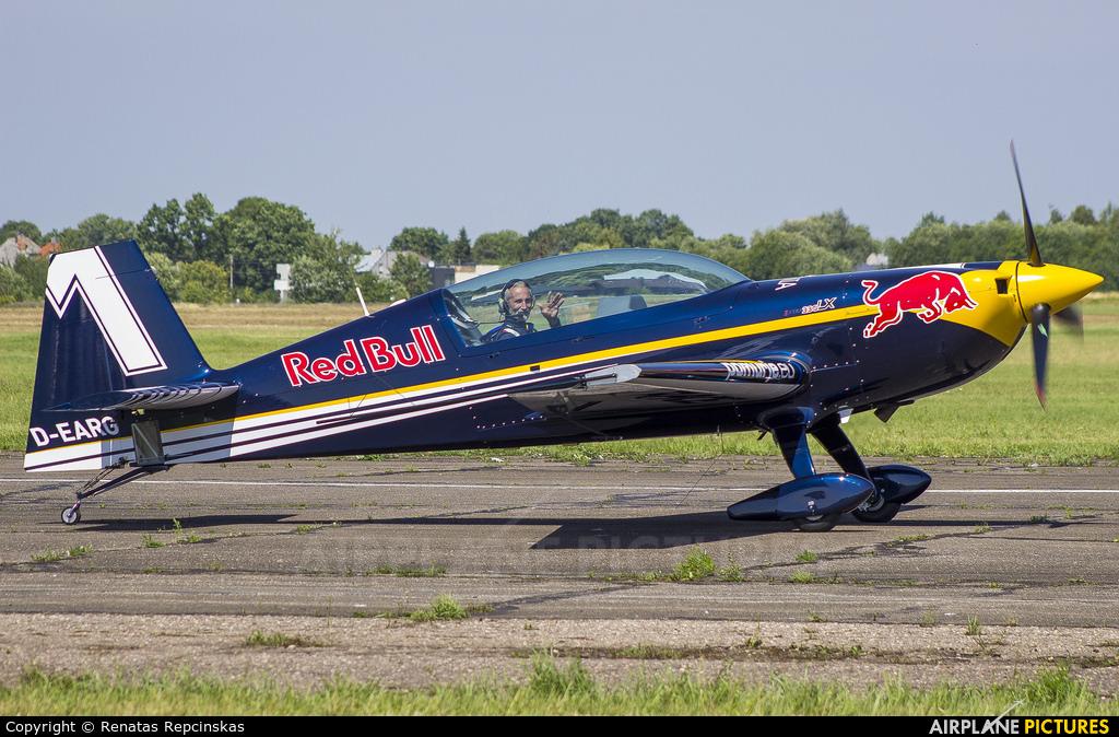 Red Bull D-EARG aircraft at Aleksotas - S. Dariaus and S. Gireno