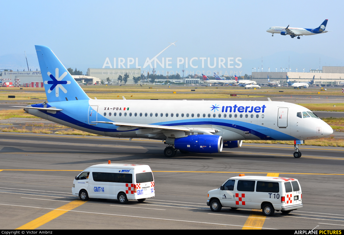 Interjet XA-PBA aircraft at Mexico City - Licenciado Benito Juarez Intl