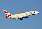 G-XLED - British Airways Airbus A380 aircraft