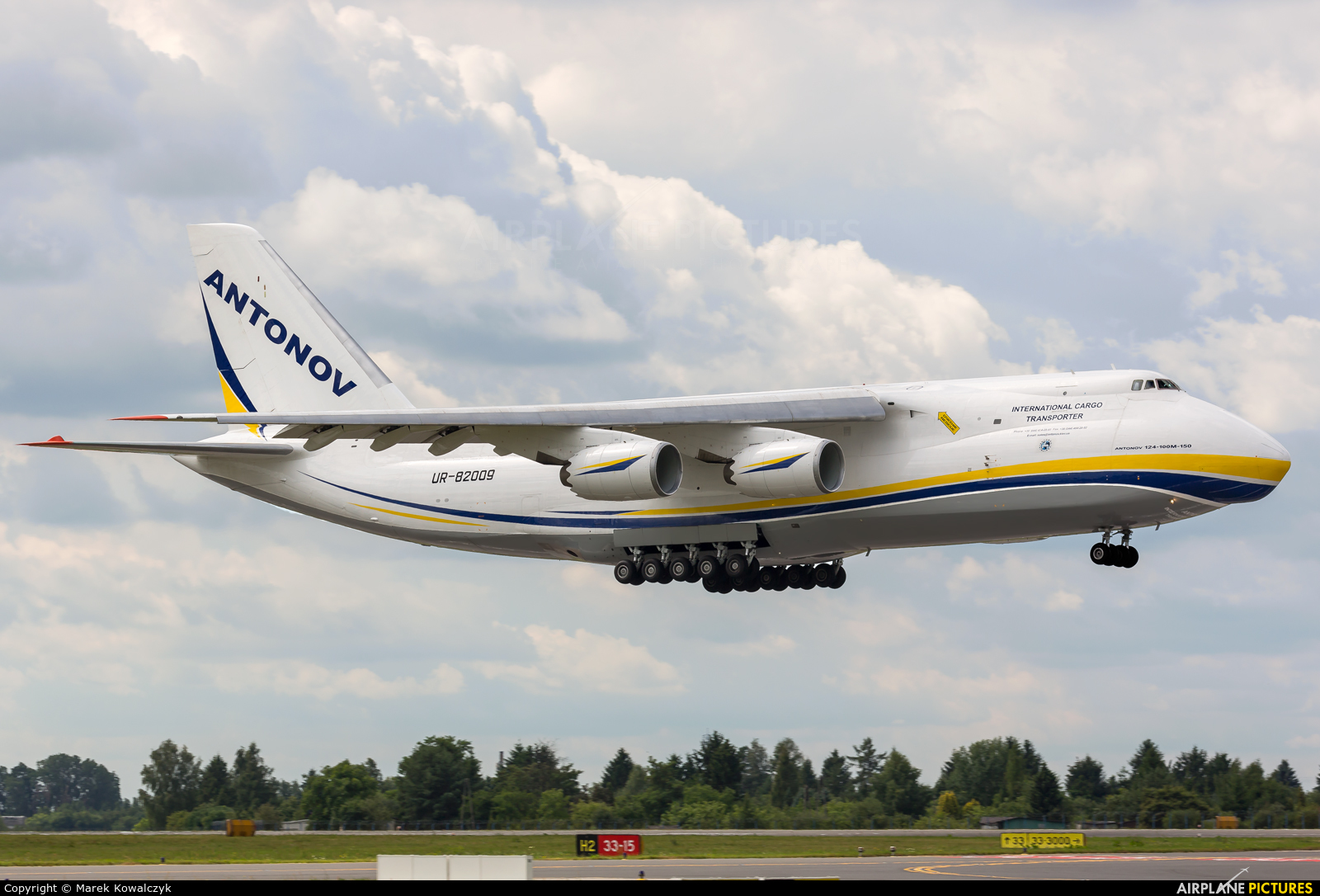 Antonov Airlines /  Design Bureau UR-82009 aircraft at Warsaw - Frederic Chopin