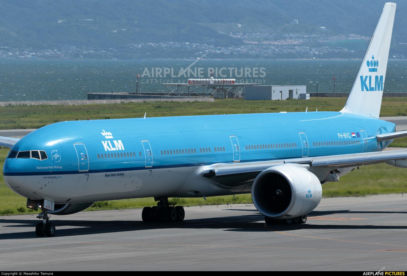 KLM PH-BVG aircraft at Kansai Intl