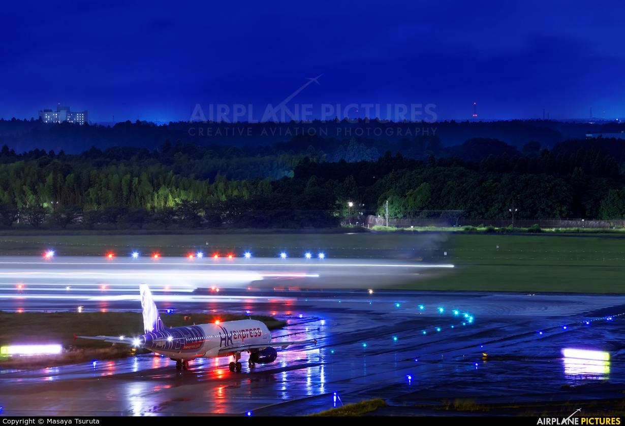 Hong Kong Express B-LCE aircraft at Tokyo - Narita Intl
