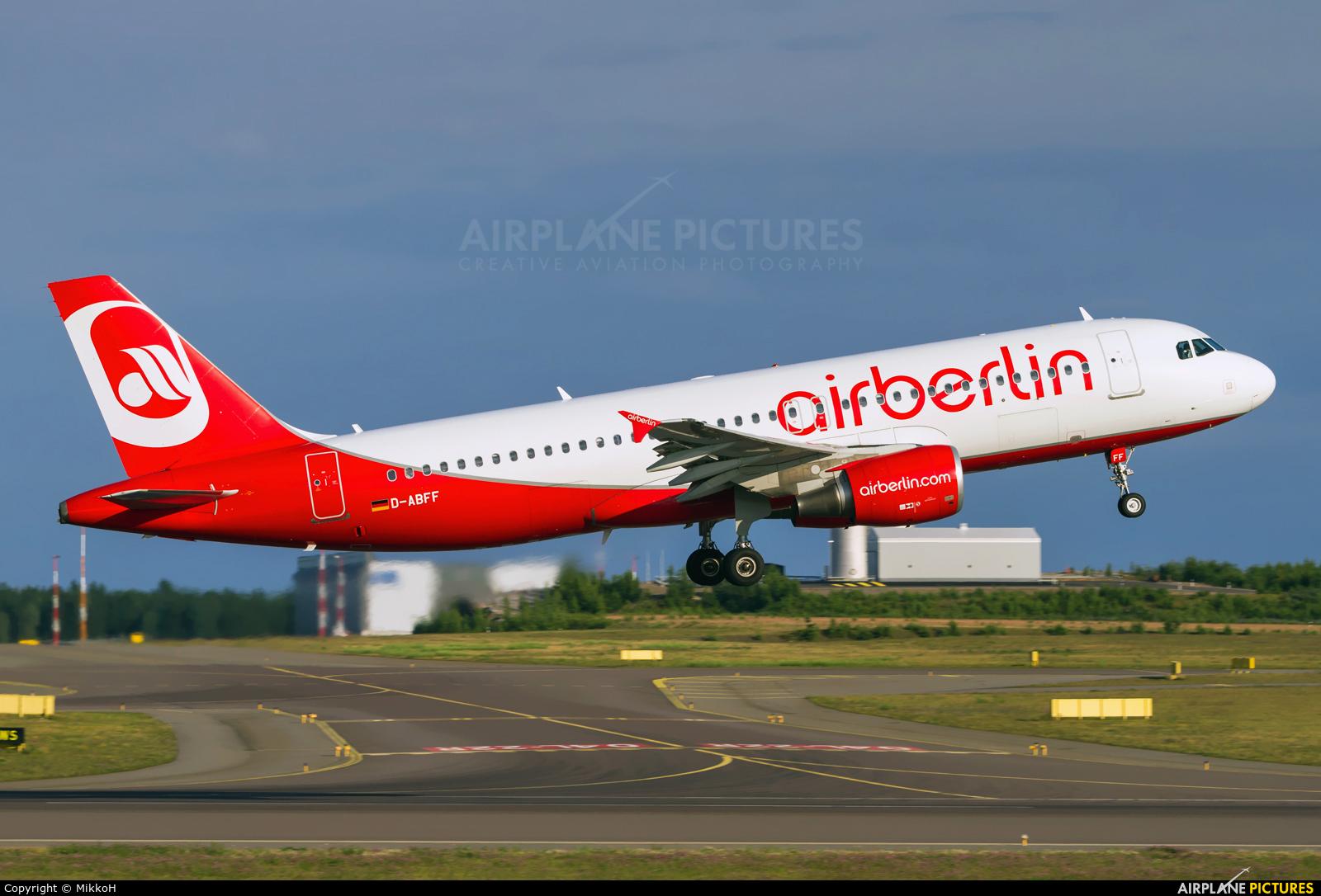 Air Berlin D-ABFF aircraft at Helsinki - Vantaa
