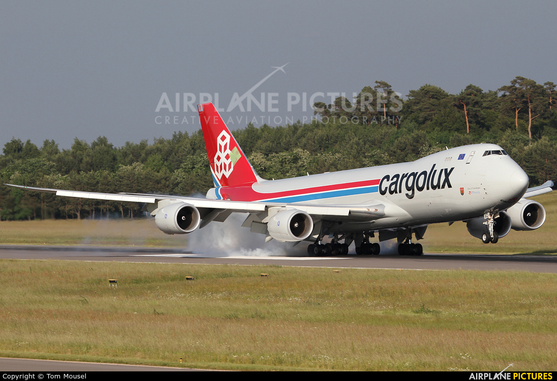 Cargolux LX-VCI aircraft at Luxembourg - Findel