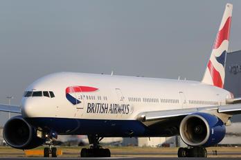 G-YMMG - British Airways Boeing 777-200
