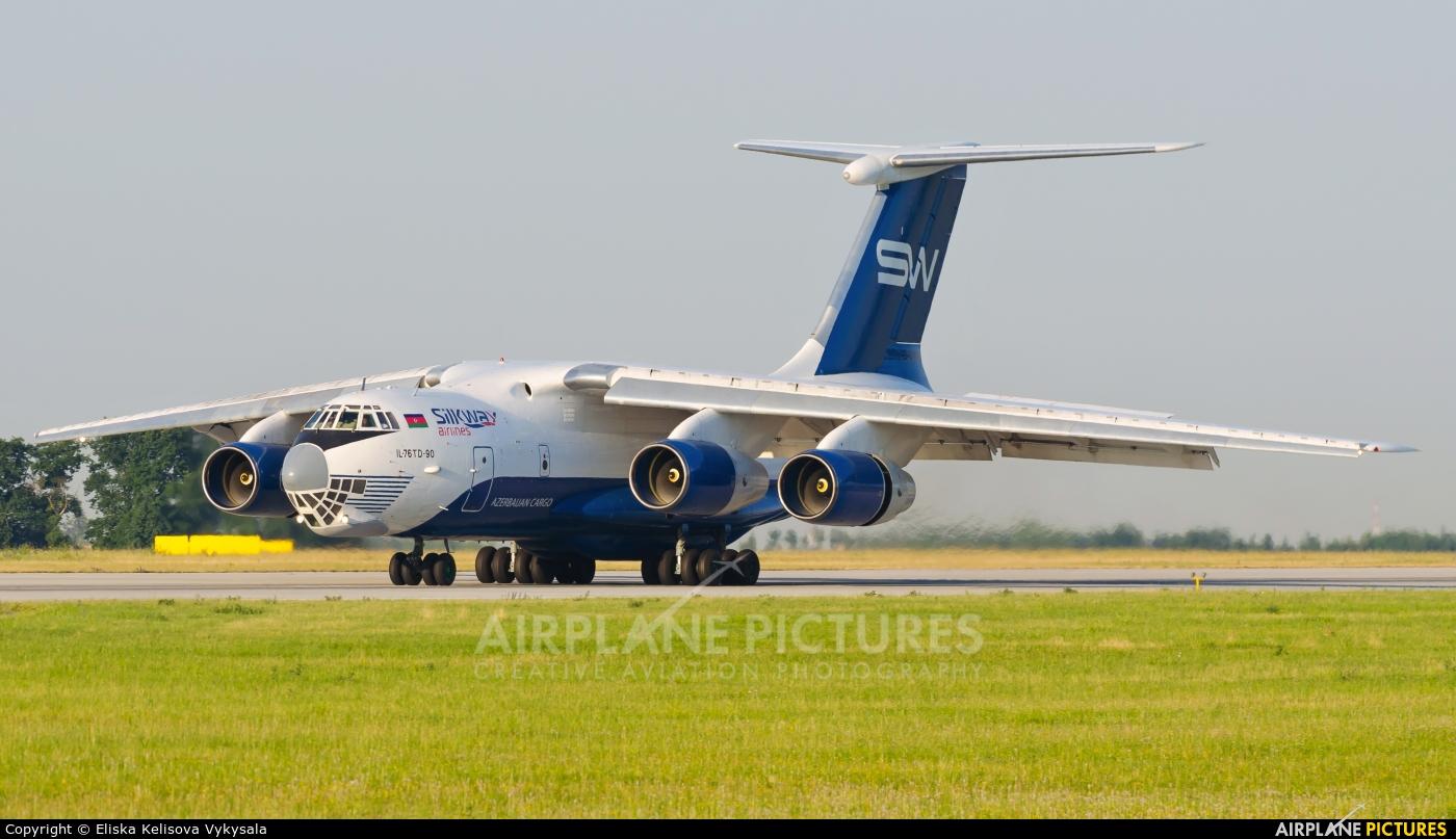 Silk Way Airlines 4K-AZ100 aircraft at Prague - Václav Havel