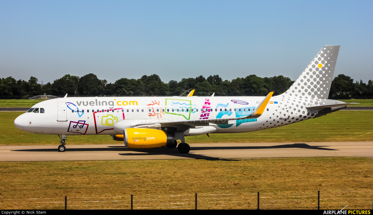 Vueling Airlines EC-LZM aircraft at Rotterdam
