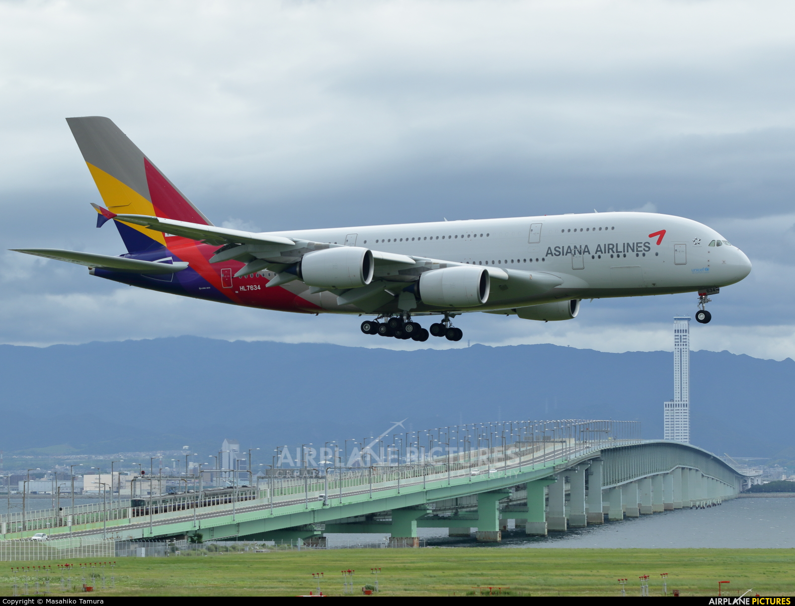 Asiana Airlines HL7634 aircraft at Kansai Intl