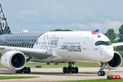 First airshow display of the A350 in the USA title=