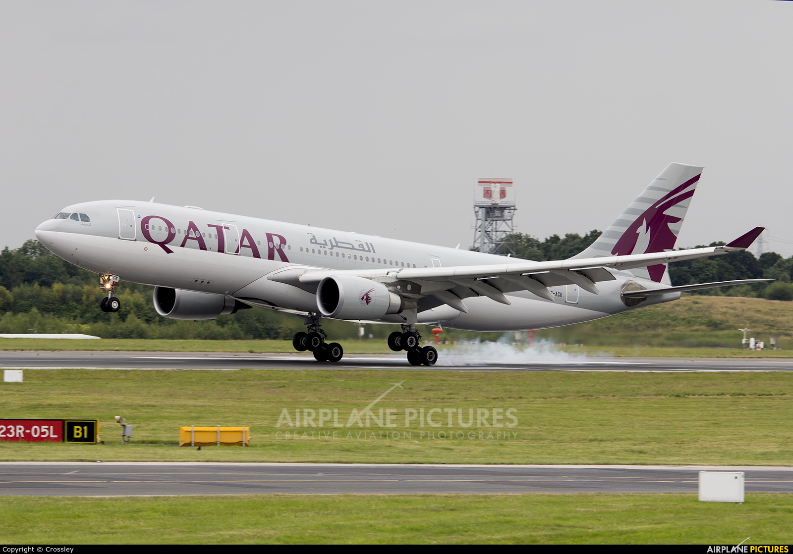 Qatar Airways A7-ACK aircraft at Manchester