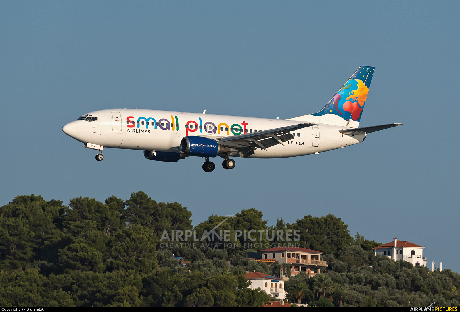 Small Planet Airlines LY-FLH aircraft at Skiathos