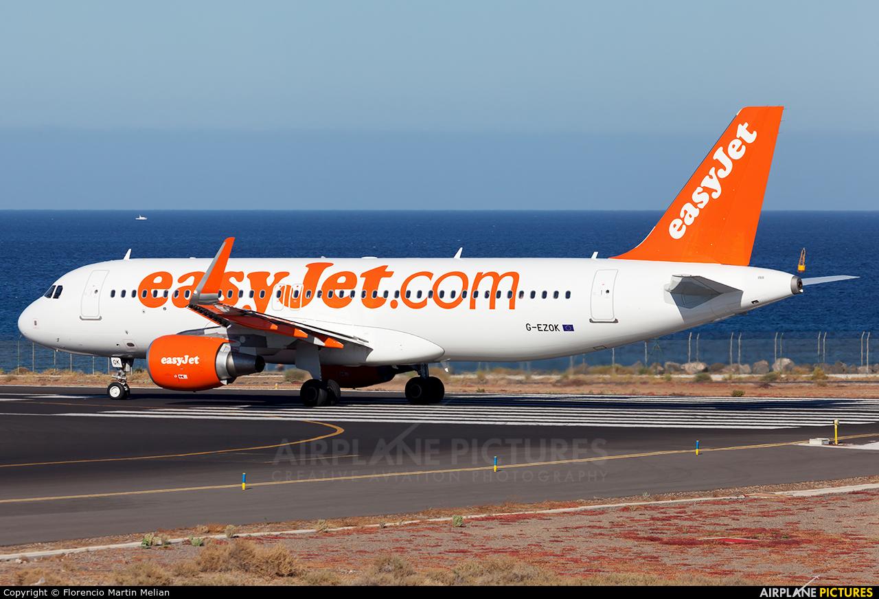 easyJet G-EZOK aircraft at Lanzarote - Arrecife