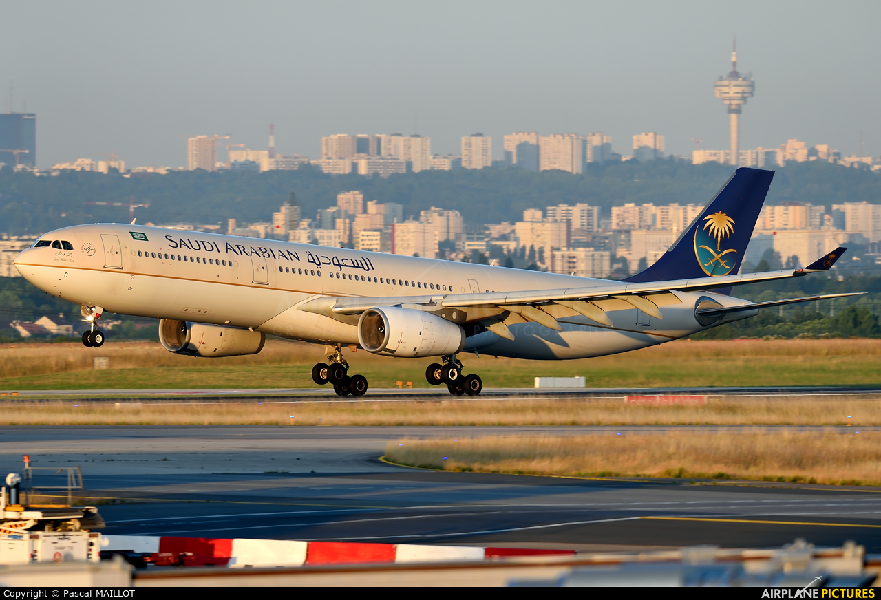 Saudi Arabian Airlines HZ-AQC aircraft at Paris - Charles de Gaulle