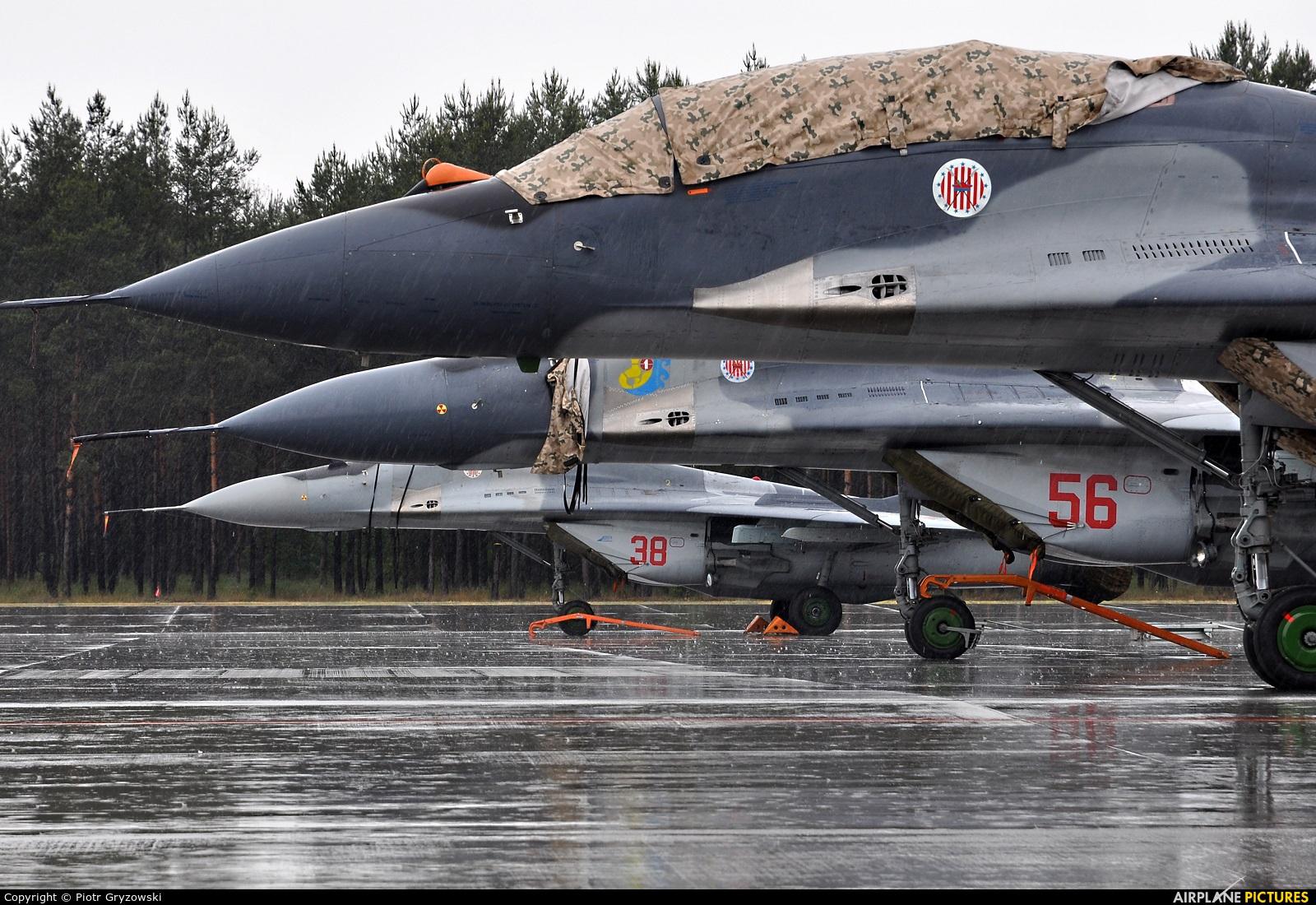 Poland - Air Force 56 aircraft at Powidz
