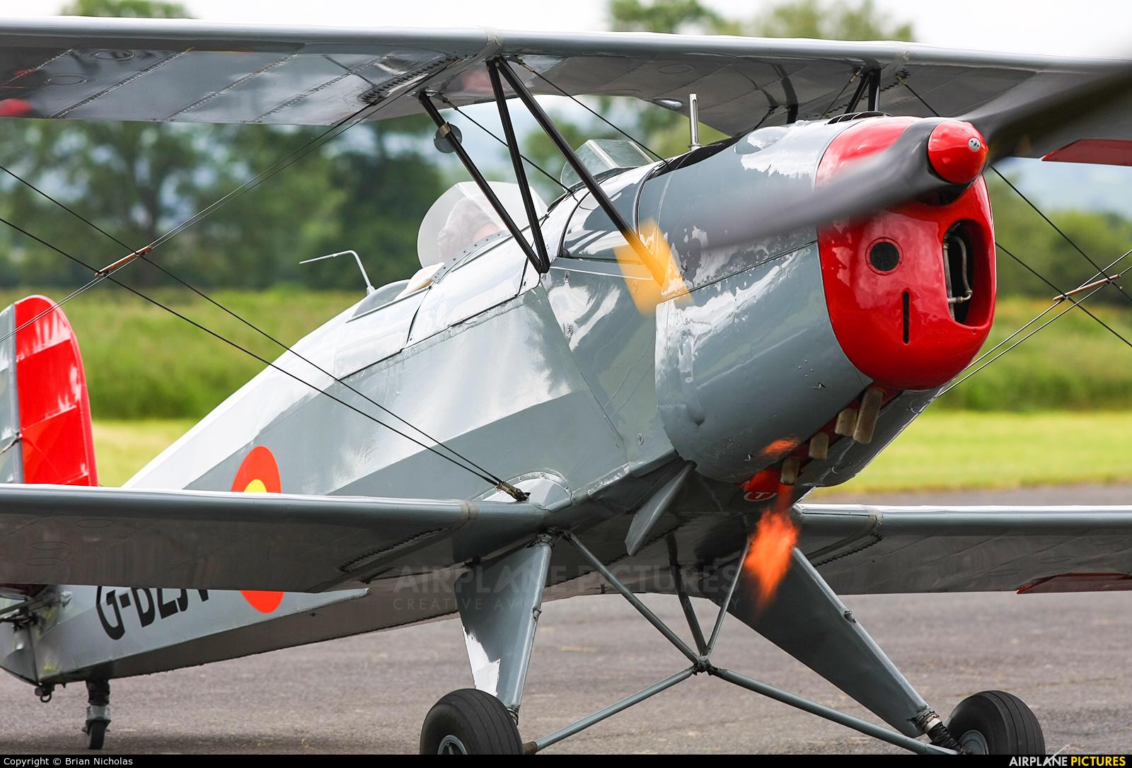 Private G-CDJU aircraft at Welshpool