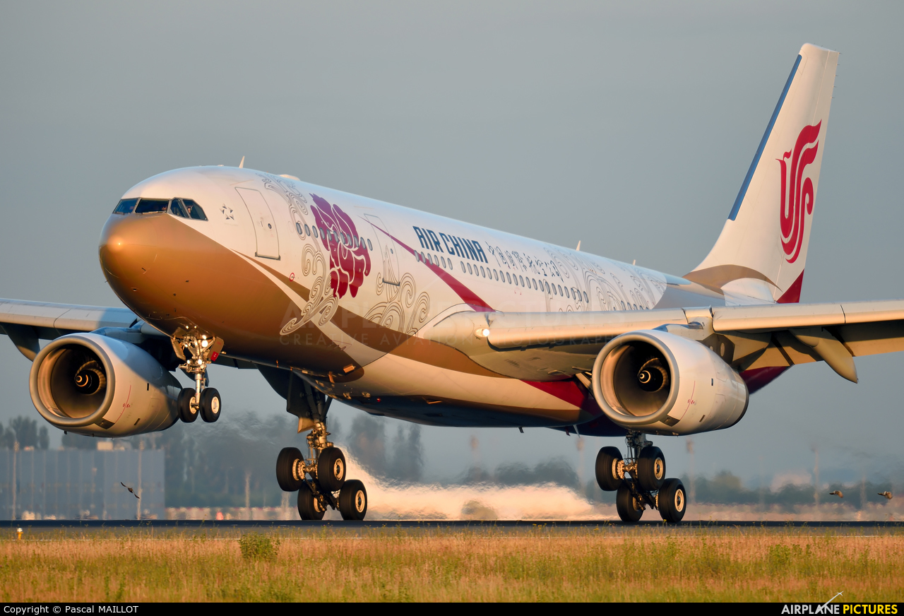 Air China B-6075 aircraft at Paris - Charles de Gaulle