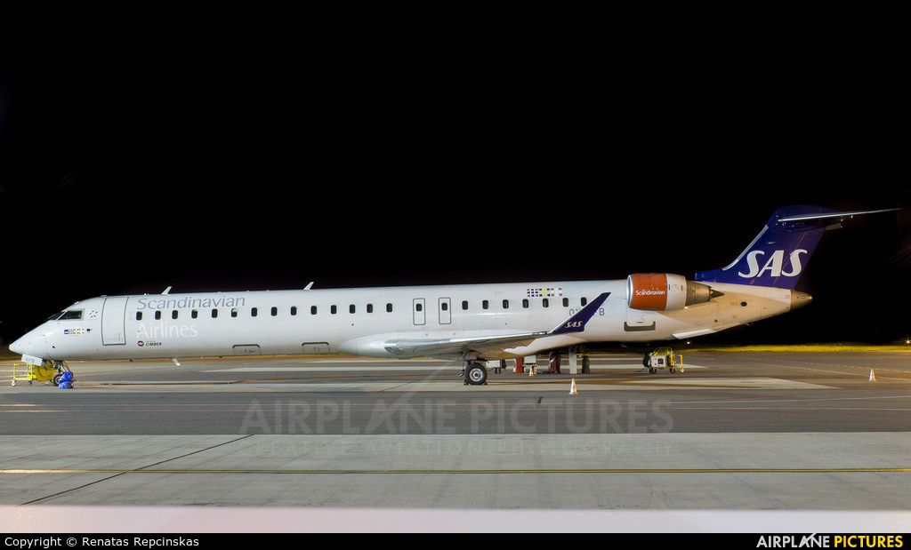 SAS - Scandinavian Airlines OY-KFB aircraft at Vilnius Intl