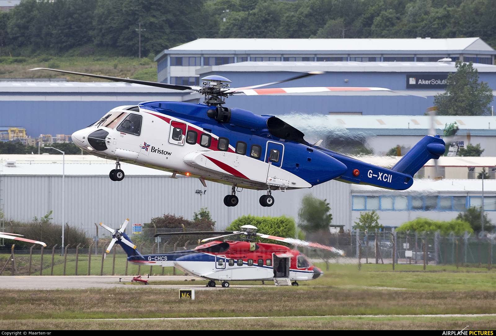 Bristow Helicopters G-XCII aircraft at Aberdeen / Dyce