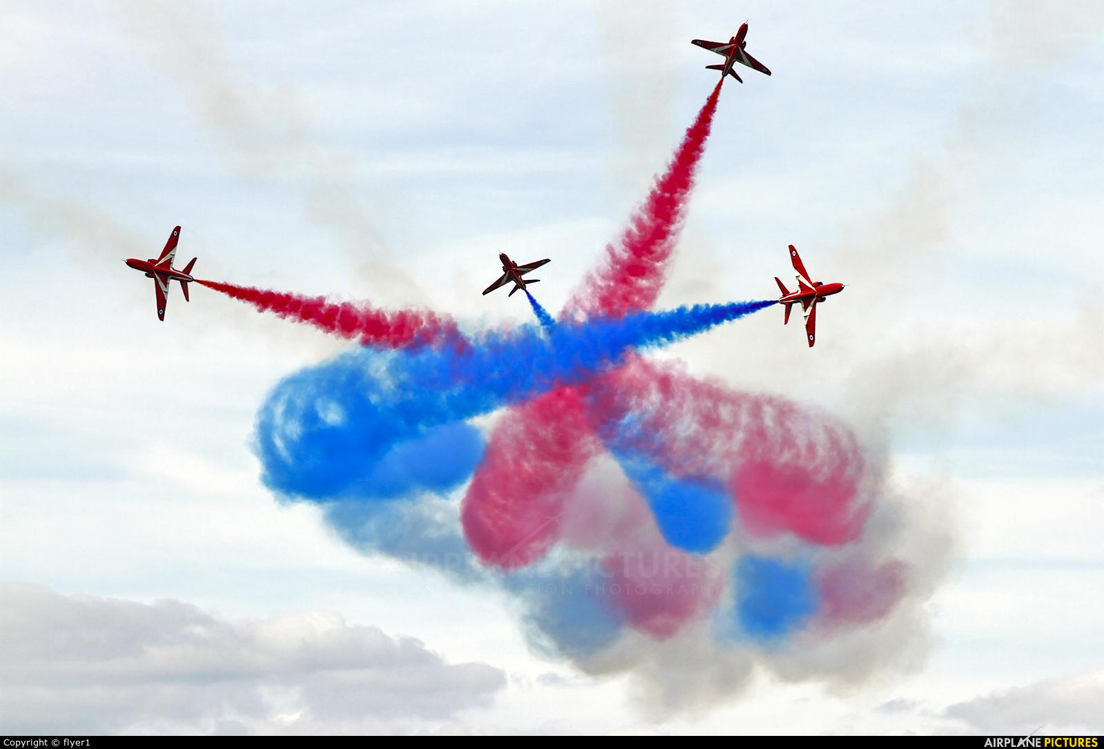 "Royal Air Force ""Red Arrows"" XX242 aircraft at Fairford"