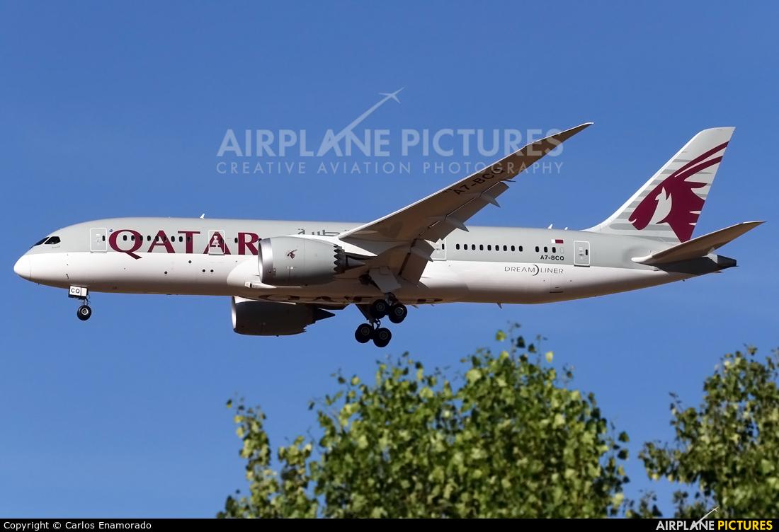Qatar Airways A7-BCQ aircraft at Madrid - Barajas