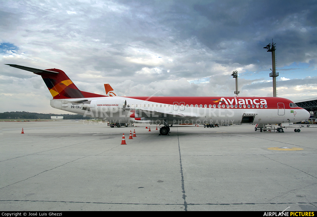 Avianca Brasil PR-OAJ aircraft at São Paulo - Guarulhos