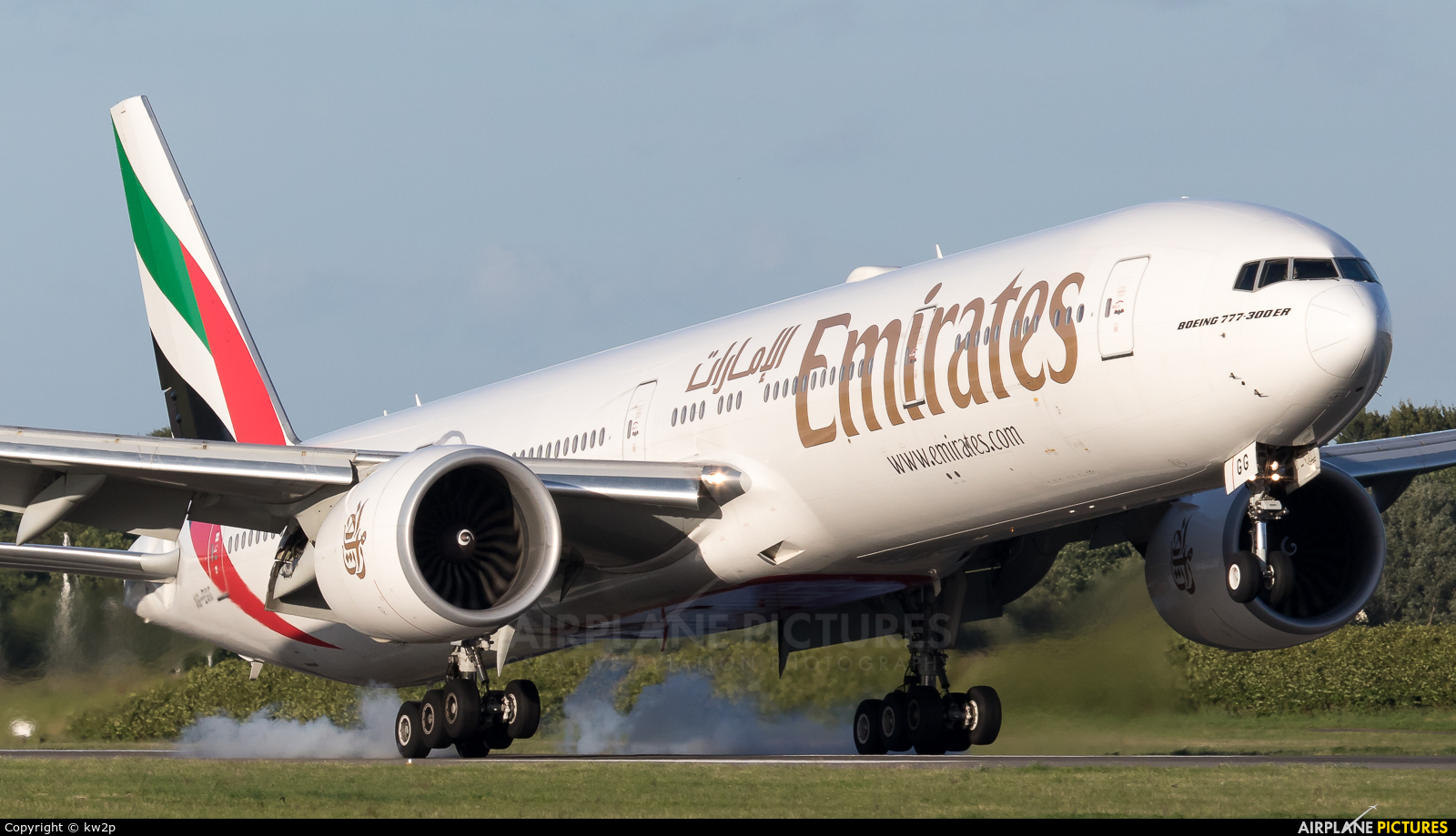 Emirates Airlines A6-EGG aircraft at Glasgow