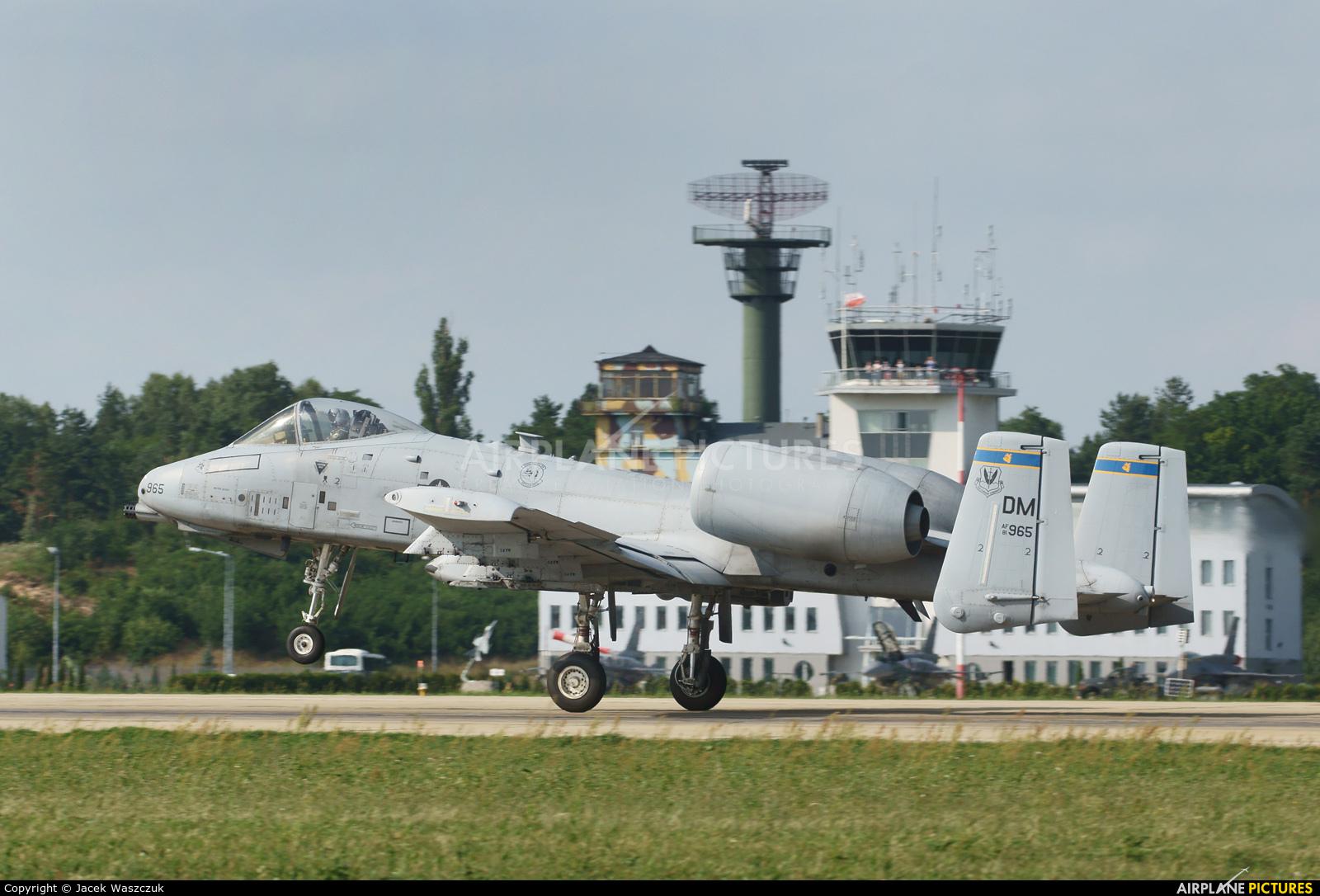 USA - Air Force 81-0965 aircraft at Łask AB