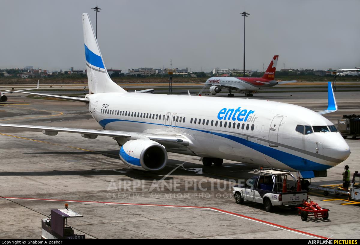 Enter Air SP-ENY aircraft at Bangkok - Don Muang