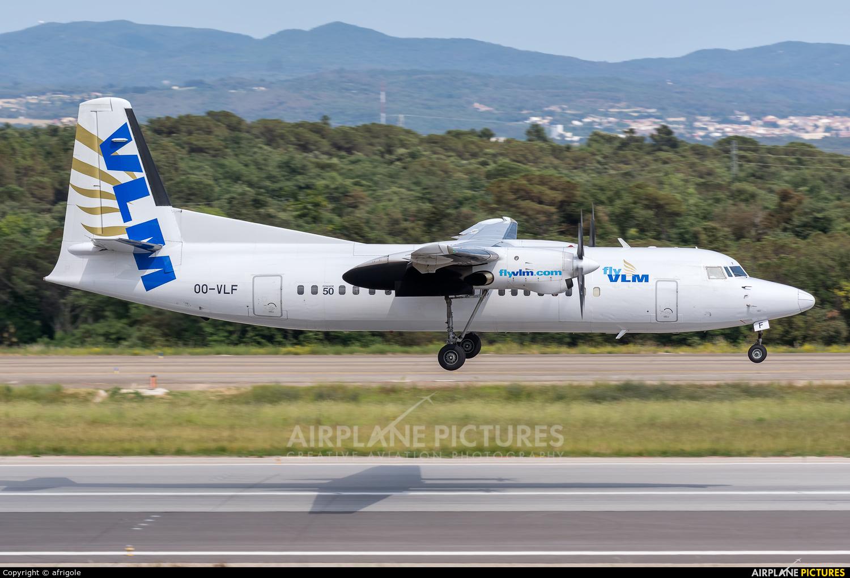 VLM Airlines OO-VLF aircraft at Girona - Costa Brava