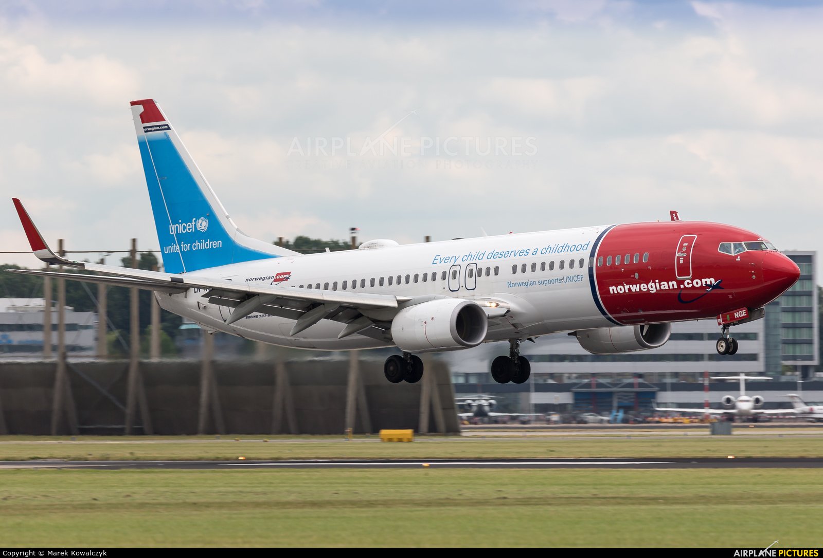Norwegian Air Shuttle LN-NGE aircraft at Amsterdam - Schiphol