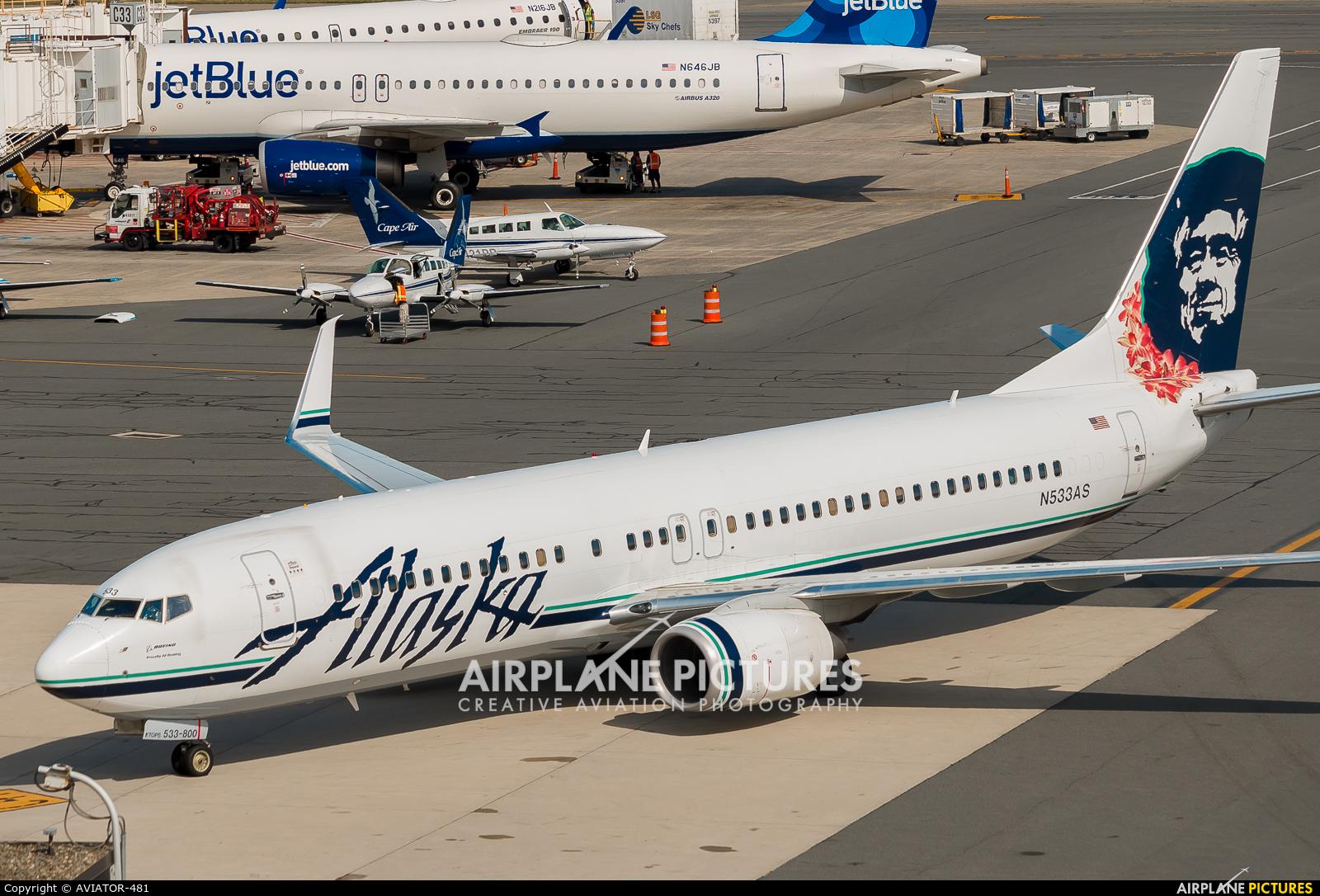 N533as Alaska Airlines Boeing 737 800 At Boston