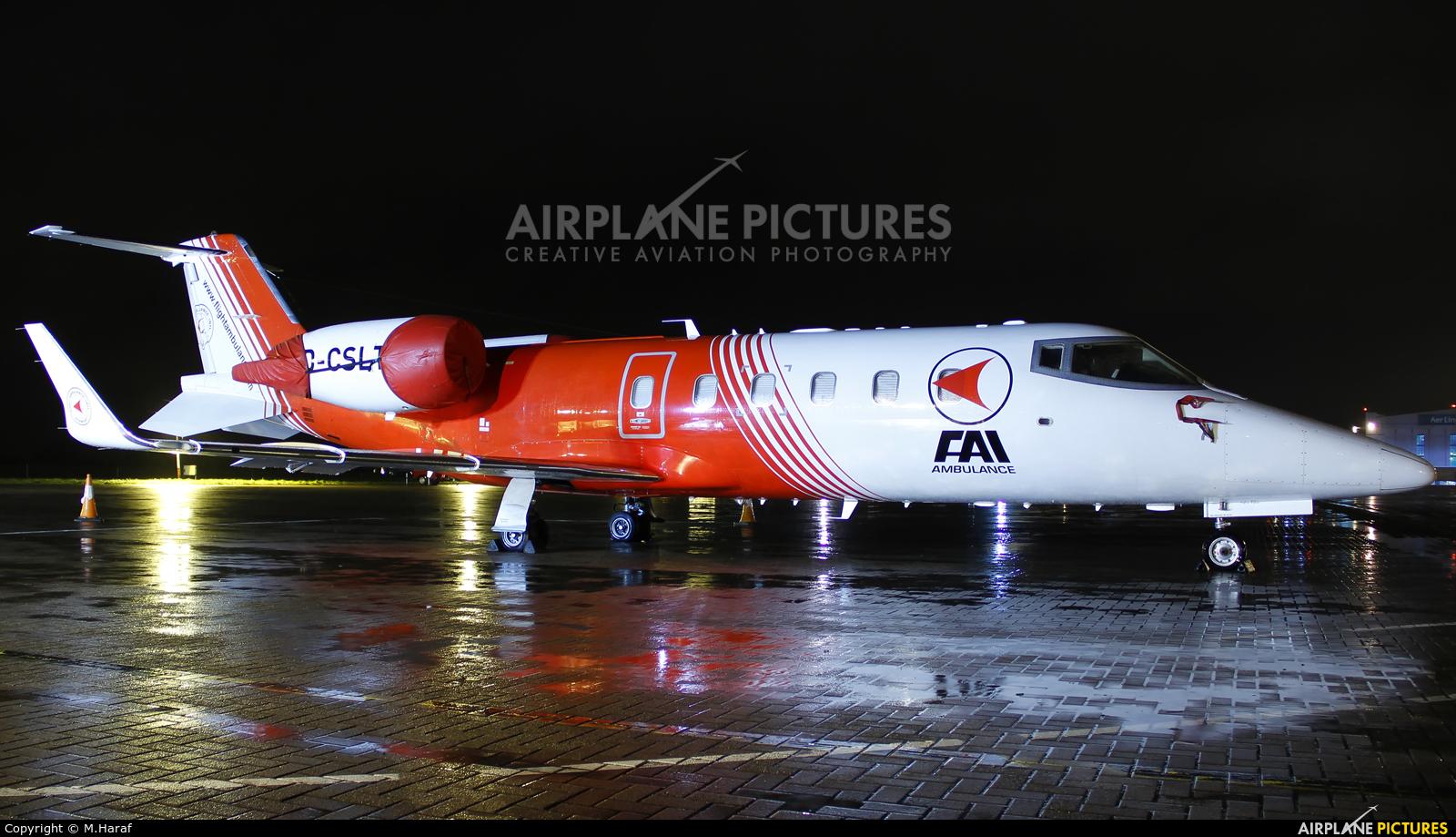 FAI - Flight Ambulance International D-CSLT aircraft at Dublin